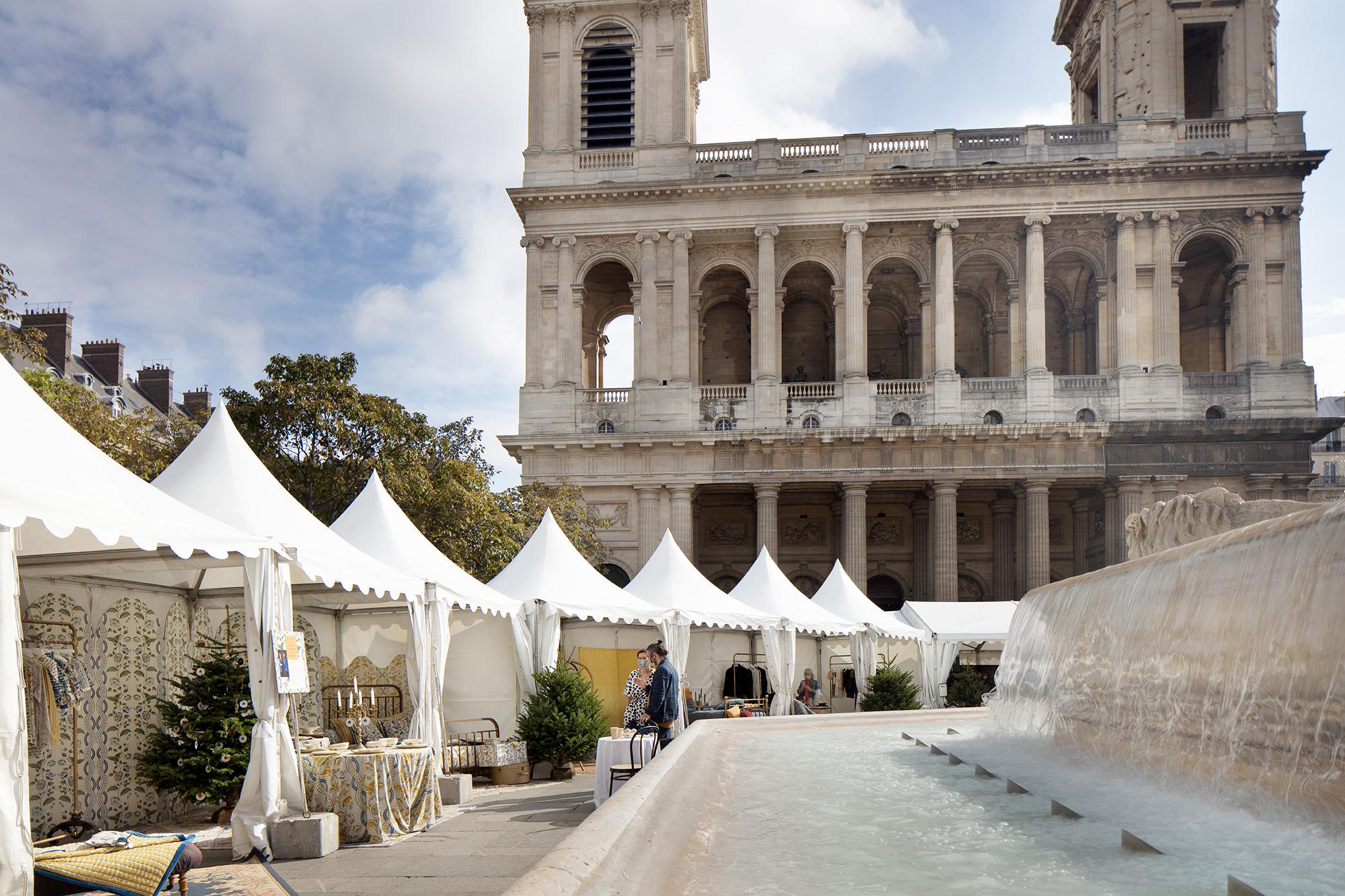 Presentation Monoprix Saint Sulpice Noel 2020 Paris Studio Poulanges